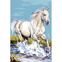 Canevas Pénélope  - SEG de Paris - Le cheval blanc