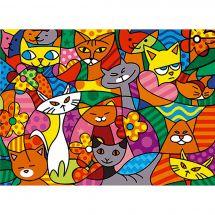 Canevas Pénélope  - SEG de Paris - Color cats