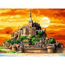 Canevas Pénélope  - SEG de Paris - Le Mont St Michel en couleurs