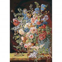 Canevas Pénélope  - SEG de Paris - Vase de fleurs XVIIIème siècle