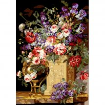 Canevas Pénélope  - SEG de Paris - Corbeille et vase de fleurs