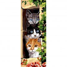 Canevas Pénélope  - SEG de Paris - Les trois chats