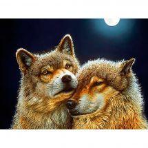 Kit de broderie Diamant - Diamond Painting - Loups