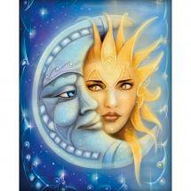 Kit de broderie Diamant - Diamond Painting - Lune et soleil