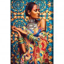 Kit de broderie Diamant - Diamond Painting - Femme indienne