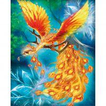 Kit de broderie Diamant - Diamond Painting - Oiseau de feu