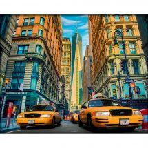 Kit de broderie Diamant - Diamond Painting - Taxi à New York