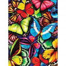 Kit de broderie Diamant - Diamond Painting - Papillons brillants