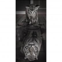 Kit de broderie Diamant - Diamond Painting - Reflet du tigre