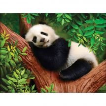 Kit de broderie Diamant - Diamond Painting - Sieste du panda