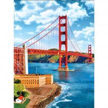 Kit de broderie Diamant - Diamond Painting - Golden Gate