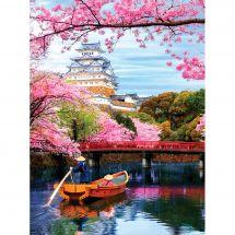 Kit de broderie Diamant - Diamond Painting - Temple japonais