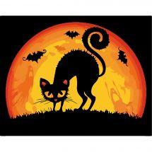 Kit de peinture par numéro - Wizardi - Le chat d'Halloween