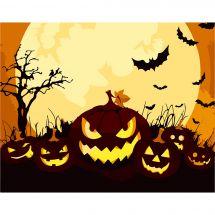 Kit de peinture par numéro - Wizardi - Citrouilles d'Halloween