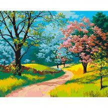 Kit de peinture par numéro - Wizardi - L'éclosion du printemps