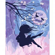 Kit de peinture par numéro - Wizardi - Branche de sakura
