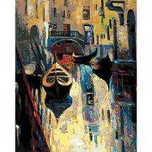 Kit de peinture par numéro - Wizardi - L'ancienne Venise