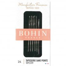 Aiguilles à tapisser - Bohin - Aiguilles à tapisserie main n°24