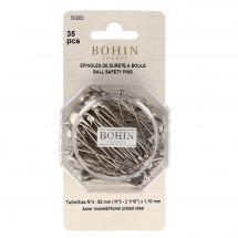 Epingles - Bohin - Lot de 35 épingles de sûreté à boule