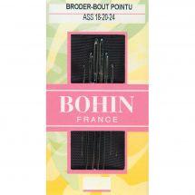 Aiguilles à broder - Bohin - Aiguilles à broder main n°18-20-24