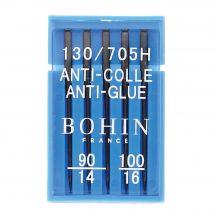 Aiguilles machine à coudre - Bohin - 5 aiguilles machine anti-colle - 90 mm - 100 mm
