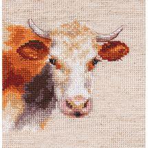 Kit point de croix - Alisa - Vache