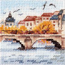 Kit point de croix - Alisa - Mouettes sur le pont