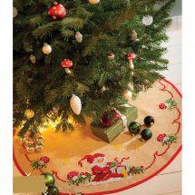 Kit tapis de sapin - Anchor - Tapis de sapin de Noël - Jute