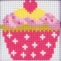 Kit point de croix pour enfant - Anchor - Cupcake