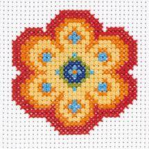 Kit point de croix pour enfant - Anchor - Fleur