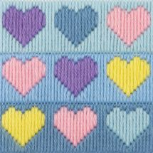 Kit de canevas pour enfant - Anchor - Coeurs