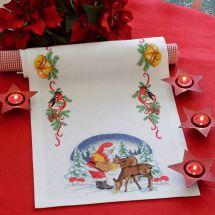 Kit de chemin de table à broder - Anchor - Le repas des rennes