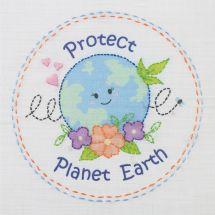 Kit de broderie pour enfant - Anchor - Protégeons la planète