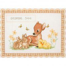 Kit point de croix - Anchor - Naissance - Bébés animaux