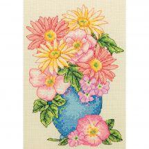 Kit point de croix - Anchor - Bouquet de fleurs