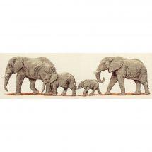 Kit point de croix - Anchor - La promenade des éléphants
