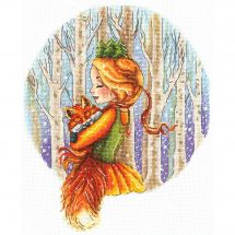 Kit point de croix - Andriana - Princesse de la forêt