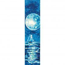 Kit de marque-pages à broder - Andriana - Lune bleue