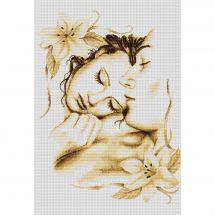 Kit point de croix - Luca-S - Couple amoureux