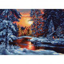 Kit point de croix - Luca-S - Crépuscule en hiver