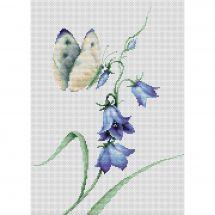 Kit point de croix - Luca-S - Papillons et fleurs