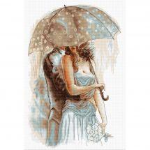 Kit point de croix - Luca-S - Confidences sous parapluie