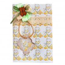 Kit de carte à assembler - Luca-S - Carte de voeux nounours garçon