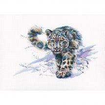 Kit point de croix - RTO - Le léopard des neiges