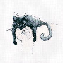 Kit point de croix - RTO - Parmi les chats noirs