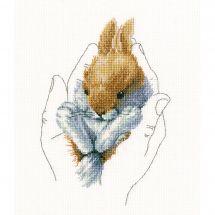 Kit point de croix - RTO - La main et le lapin