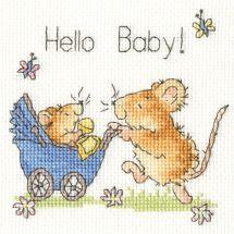Kit point de croix - Bothy Threads - Hello bébé !