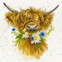 Kit point de croix - Bothy Threads - Marguerite la vache