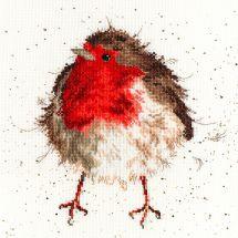 Kit point de croix - Bothy Threads - Joyeux rouge gorge