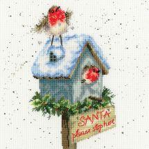 Kit point de croix - Bothy Threads - Père Noël arrêtez-vous ici